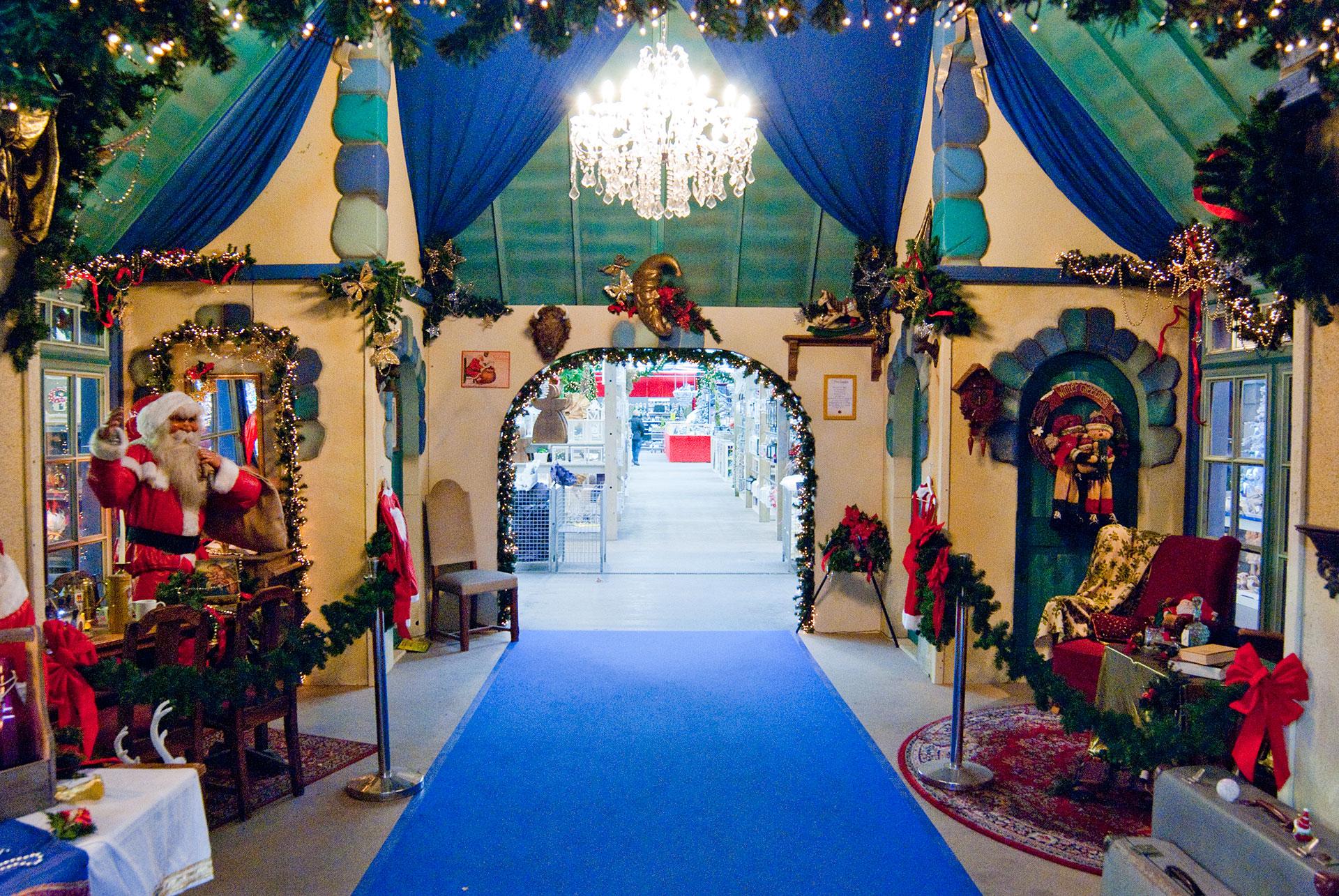 Decor van huis van de Kerstman