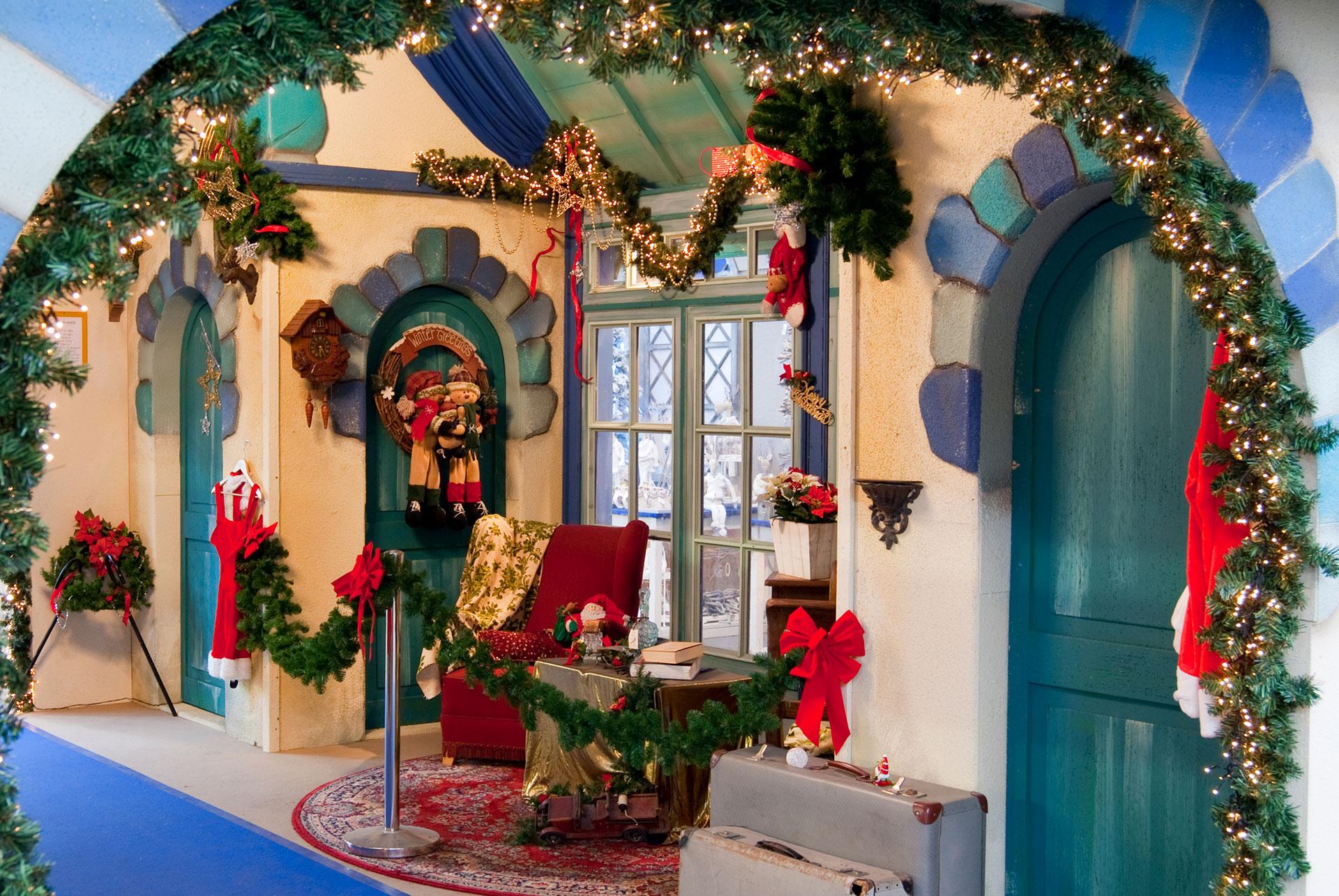Décor de la maison du Père Noël